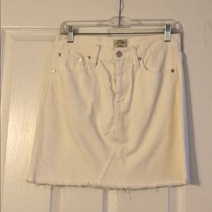 J. Crew White Denim skirt size 26